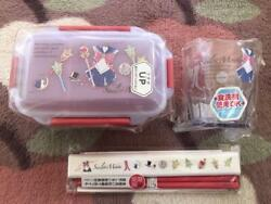 Sailor Moon Lunch Box 600 Ml Cup Chopsticks 3 Set Made In Japan W/tracking F/s