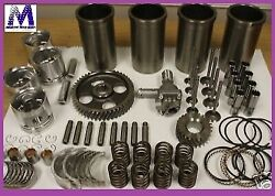 Engine Kit Fits Gas Toyota 4y Forklift Pistons Rings Gkts Brgs Opump Tensioner