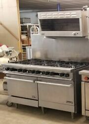 Therma-tek 60and039and039 10 Burner Range 2 Standard Ovens With Dcs Cheese Melter