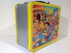 1964 Canadian Flintstones Vintage Metal Lunch Box From Canada Very Rare