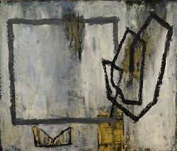 Abstract Composition. Wax And Paraffin On Canvas. Atrib. Enric Massot. Spain. Xx