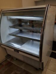 Leader 48 Commercial Curved High Glass Display Deli Case Refrigerated