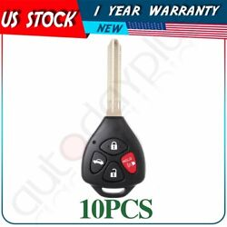 10 Entry Remote Fob Uncut Replacement Ignition Car Key For Toyota Camry Keyless