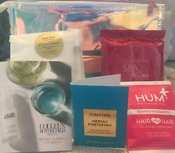 Neiman Marcus 2019 Iridescent Clear Cosmetic Bag amp; Samples New Fresh FREE SHIP $23.99