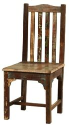 18 W Livio Dining Chair Hand Crafted Reclaimed Hardwood Rustic Distress