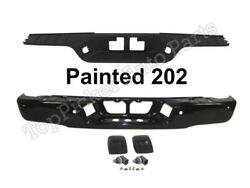 Painted 202 Black Rear Bumper Face Bar Center Pad License Light For Tundra 07-13