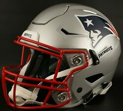 New England Patriots Nfl Authentic Gameday Football Helmet W/ Sf-2bd Facemask