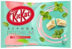Japanese Kit-Kat Premium Peach Mint KitKat Chocolates 12 bars Japan import NEW