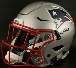 New England Patriots Nfl Authentic Gameday Football Helmet W/ Sf-2eg-sw Facemask