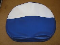 Ford / Ferguson / Tractor / New / Blue And White Vinyl Pan Seat Cover / 19-13-14