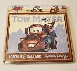 Tow Mater Disney Pixar Cars Towing And Salvage Radiator Springs Vintage Ad Sign