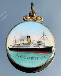White Star Line Rms Laurentic Bought Onboard Barbers Shop Solid Silver Charm