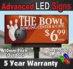 Scrolling Led Sign Full Color Text+video Real Pixel 10mm Front Access 38 X 38