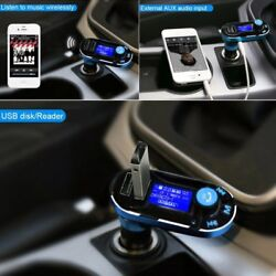 Bluetooth Fm Transmitter For Car Hands Free Usb Charger Radio Adapter Mp3 Player