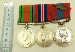 Military Wwii Pair And Royal Air Force Long Service Good Conduct Medal Trio 5266