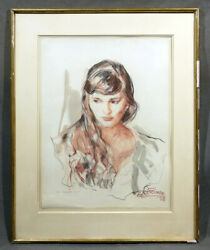 Young Beautiful Lady Portrait Vintage Modern American Museum Quality Work
