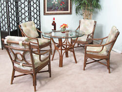 Rattan Dining Room Furniture 5 Piece Set 2430aw-is