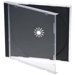 100 Standard 10.4 mm Jewel Case Single CD DVD Disc Storage Assembled Black Tray $33.45