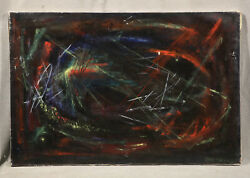 Modern American Artist Abstract Composition Quality Painting Robert Freiman