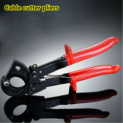 1X Cable Wire Stripper Tool Ratchet Cutter for Cutting Copper Aluminum Hand Tool