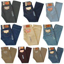 New Mens 501 Prewashed Original Fit Straight Leg Button Fly Jeans Pants