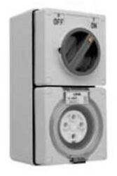 Clipsal 56-series Switched Socket 500v 4-pin Round White- 10a 20a Or 32a