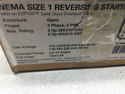 New In Box Siemens Size 1 3 Pole 600 Vac 27 Amps 10 Hp 120/240 Vac Coil Reversin