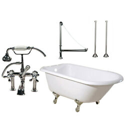 Randolph Morris 60 In Cast Iron Clawfoot Tub Set - Complete Package