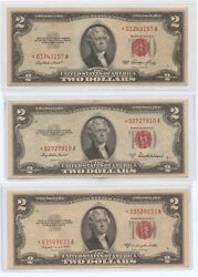 1953, 1953a And 1953b 2 Star Us Notes 1628 All Higher Grade, But Off Color.