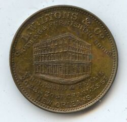 Merchant Token La 39 24mm 7433 L. W. Lyons And Co. Clothing And Furnishings.