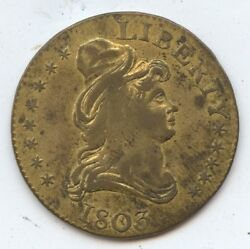Trade Token Kettle Dated 1803 Gaming 7554 Resembles Early Us 5 Gold.