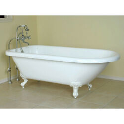 Randolph Morris 70 Inch Acrylic Classic Clawfoot Tub - No Faucet Drillings