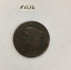 1839 Booby Head Large Cent 6256 Vg-f. Weak Date And Strike. Rim Dings.