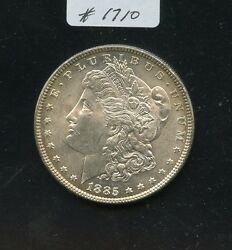 1885 Morgan 1 1710. Frosty Bu With Russet Edge Toning Both Sides. Obv. Face