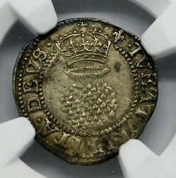 NGC AU-55. STUART. James I. 2 Pence. Son of Mary Queen of Scots. England Silver