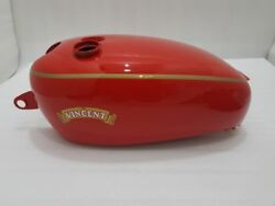 Vincent Hrd Red Painted Steel Gas Fuel Petrol Tank