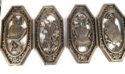 Set Of 4 Vintage Homco Medieval Armor Spanish Weapons Coat Of Arms Wall Plaques