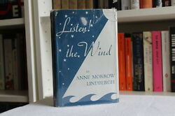 Anne Morrow & Charles Lindbergh 'Listen! The Wind' SIGNED UK first edition