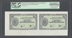 French West Africa Uncut Pair 25 Francs 14-12-1942 P30p Proof About Uncirculated