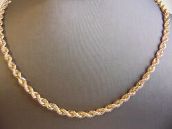 Heavy Vintage Estate 14k Yellow Gold Rope Necklace 27.1g E3370