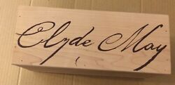 Empty Clyde May's Wooden Liquor Box W/ Plexi-glass Lid-measures 12x5 Outside