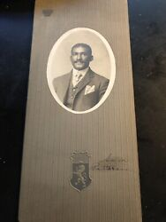 Antique Cabinet Photo African American Topeka Kansas Ragtime Sam Patterson