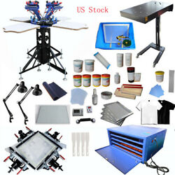 4-4 Color Full Set Kit Screen Printing Combination Package DIY Commercial Used