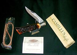 Camillus 8 Knife Indian Stag Folding Hunter Circa 1970's Nos W/packaging,papers
