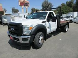 2011 FORD F450  101474 Miles WHITE 12  #39; STAKE BED V8 6.7L; TURBO AT