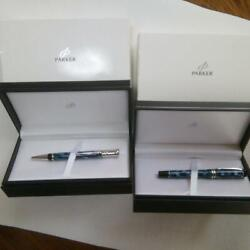Parker Duoff Ord Check Fountain Pen Ball Pen Blue Black W/tracking F/s