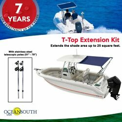 T-top Extension Kit Boat Stern Shade Blue Or Black