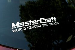 Mastercraft World Record Ski Boats 12 Set Of 2 Ski Boat Vinyl Decal Sticker