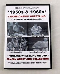 1950 And 1960's Wrestling Dvd Gorgeous George Buddy Rogers Siki Antonino Rocco Wwe