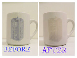 Vtg 1960s RARE Disappearing Tardis COLOR CHANGING Coffee Mug Cup Dr DOCTOR WHO
